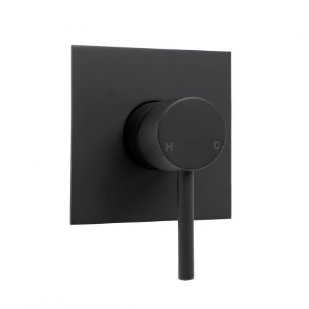 emma square black wall mixer