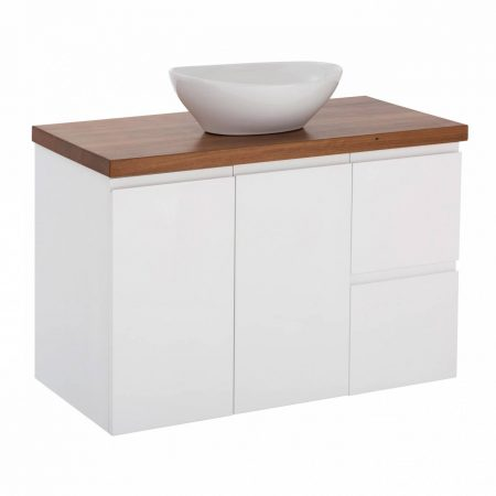 finger pull timber vanities
