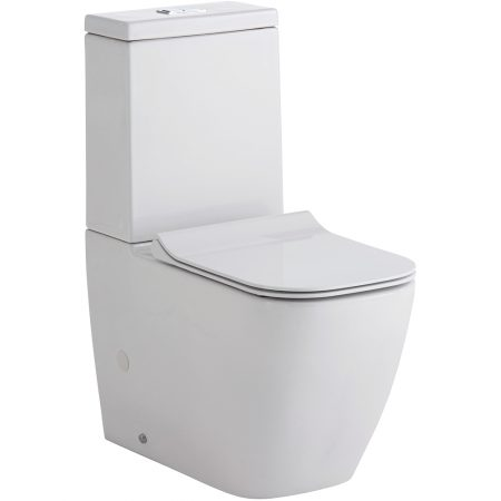 lincoln rimless back to wall toilet