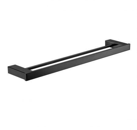 Komo Black Double Towel Rail 810mm
