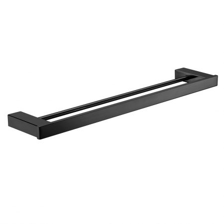 Komo Black Double Towel Rail 610mm