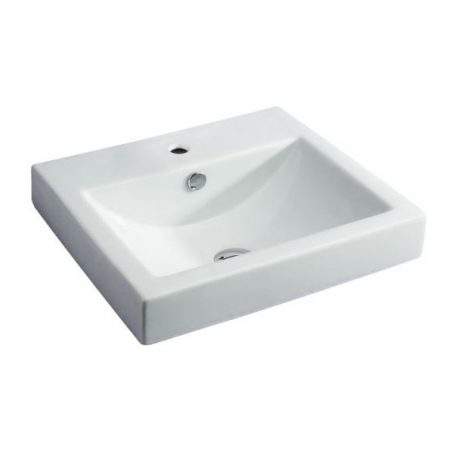 low profile inset basin