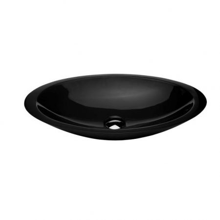 kopa gloss black stone basin