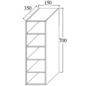 Partition Wall Cabinet