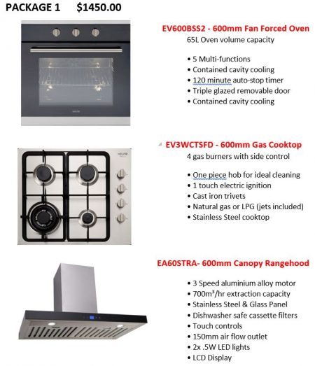 1 Euro Appliance Package : Builders Discount Warehouse : https