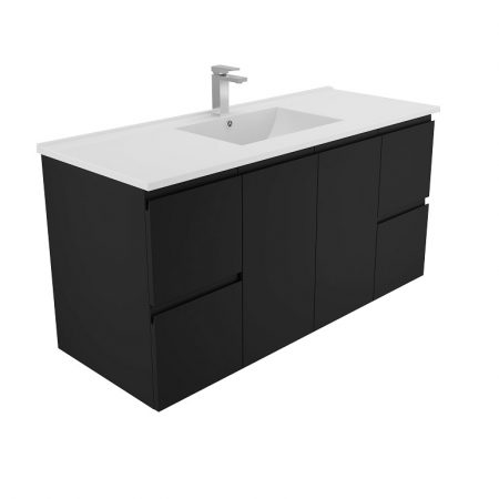 black finger pull ceramic vanities
