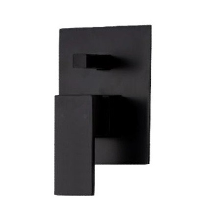 prato black wall diverter mixer