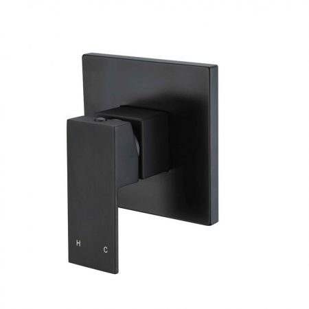 prato black wall mixer