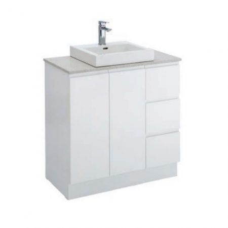 finger pull stone vanities