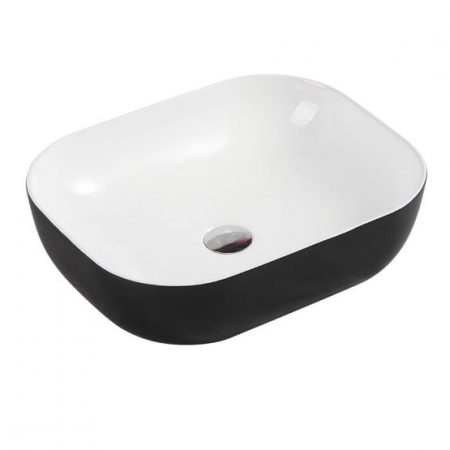 chur rectangle above counter basin