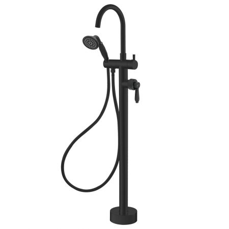 eleanor black bath mixer & shower head