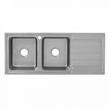 deluxe double bowl kitchen sink