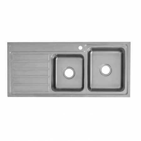 deluxe 1 & 3/4 bowl kitchen sink