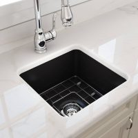 Cuisine Black Fireclay Small Sink | 457x457x203mm | COMING SOON JUNE 2019