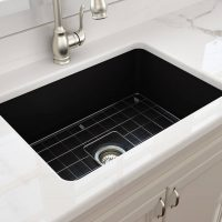 Cuisine Black Fireclay Large Sink | 680x480x254mm | COMING SOON JUNE 2019
