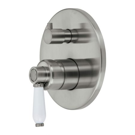 Eleanor Brushed Nickel Wall diverter Mixer