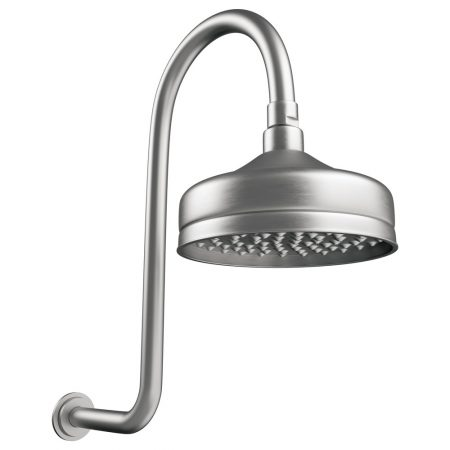 Lillian Brushed Nickel Gooseneck Shower Set