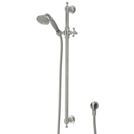 lillian brushed nickel shower rail