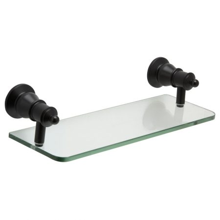 lillian black glass shelf
