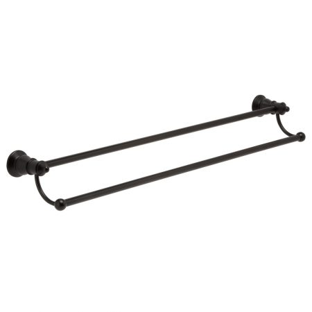 lillian black double towel rail