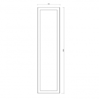 Tall End Panel – Shaker Style