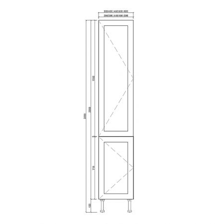 Shaker 2 Door Tall Pantries