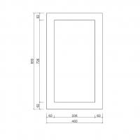 Wall End Panel Large 460mm – Shaker Style