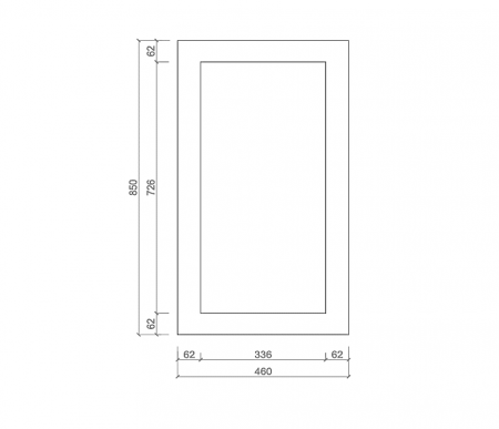 Shaker Wall End Panel Large