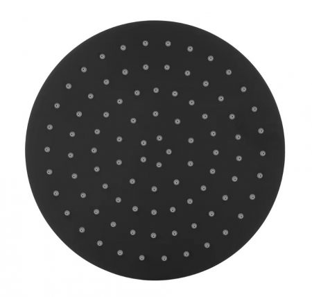 Black Round Shower Head 300mm