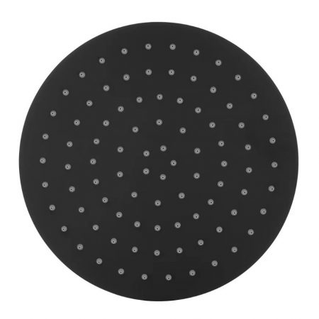 Black Round Shower Head 250mm