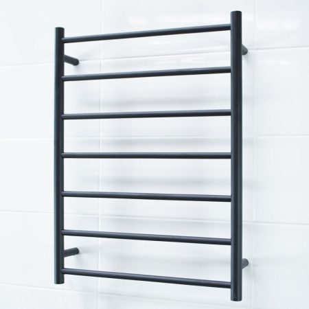 BRTR01 Black Heated Towel Ladder