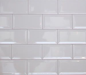 Bevel White Subway Tile 100x300mm