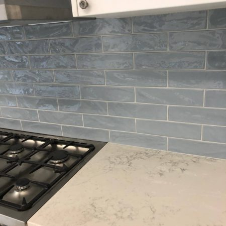 Pasha Steel Blue Subway Tile