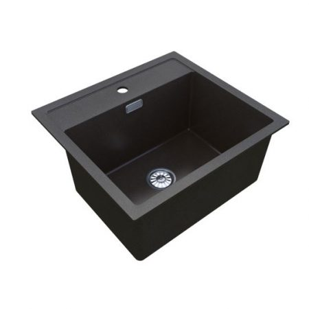32L Nugleam Black Utility Sink