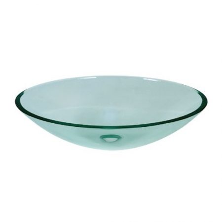 Oval Glass Basin
