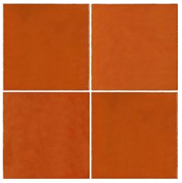Casablanca Orange Square Tile
