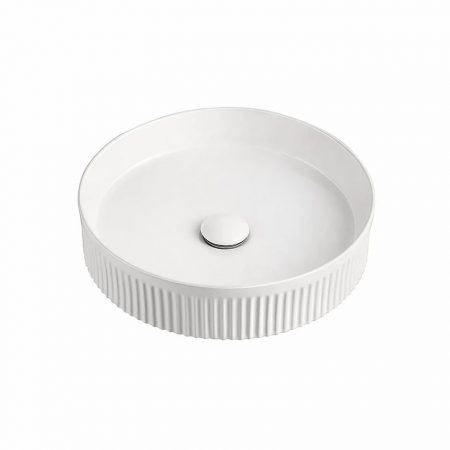 Round Fluted Basin